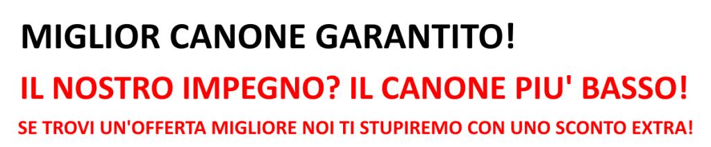 slogan miglior canone garantito